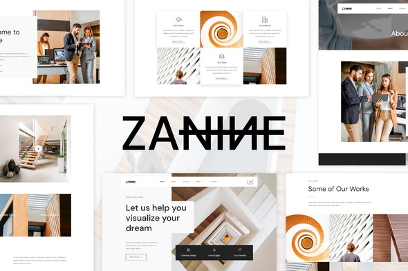 Zanine - Architecture Agency Elementor Template Kit - Real Estate & Construction Elementor