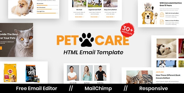 Petcare - Multipurpose Responsive Email Template - Newsletters Email Templates