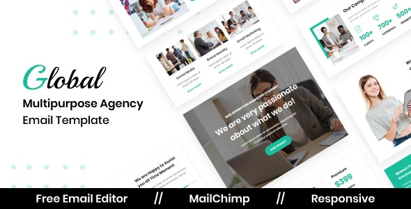 Global Agency - Multipurpose Responsive Email Template - Newsletters Email Templates