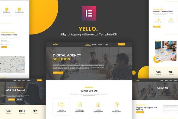 Yello - Digital Agency Elementor Template Kit - Creative & Design Elementor
