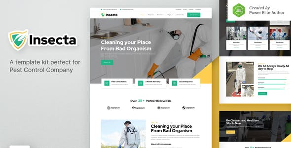 Insecta – Pest Control & Disinfection Elementor Template Kit
