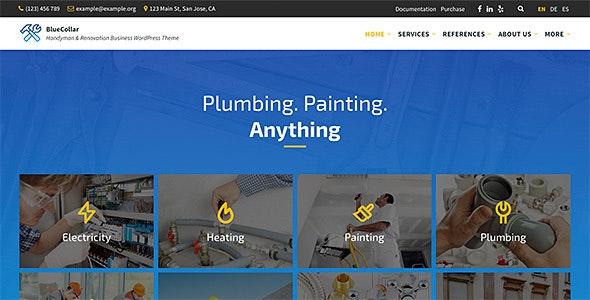 BlueCollar - Handyman & Renovation Business WordPress Theme - Business Corporate