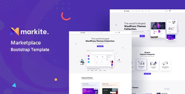 Markit - Digital Marketplace  HTML5 Template - Shopping Retail