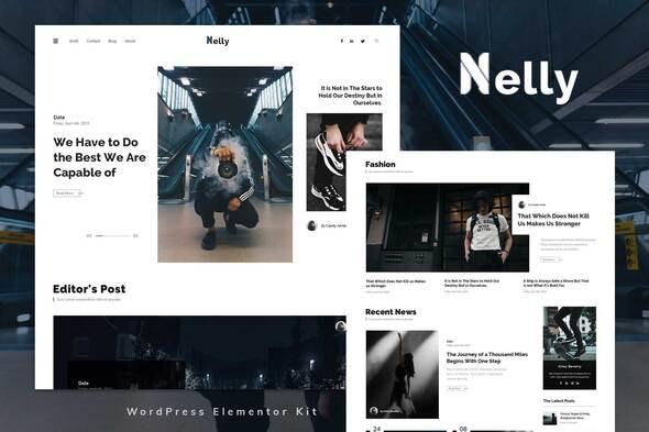 Nelly - Blog & Magazine Elementor Template Kit - News & Magazines Elementor