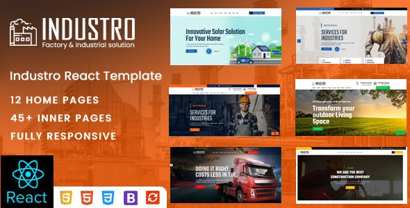 Industro - Factory & Industrial React Template