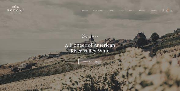 Bodoni - Winery WooCommerce WordPress Theme
