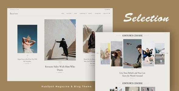 Selection - HubSpot Theme for Magazine and Blog - Blog / Magazine HubSpot CMS Hub