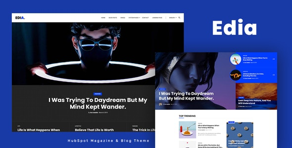 Edia - HubSpot Theme for Magazine and Blog - Blog / Magazine HubSpot CMS Hub