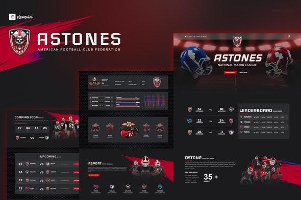Astones - American Football Team & Sports Elementor Template Kit - Sport & Fitness Elementor
