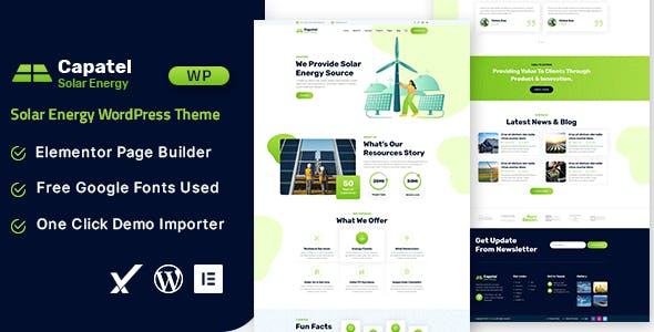 Capatel – Solar Energy WordPress Theme