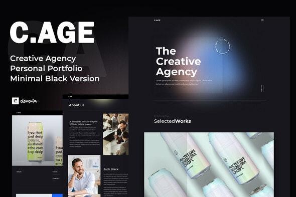 C.AGE - Creative Agency Personal Portfolio Elementor Template Kit - Creative & Design Elementor