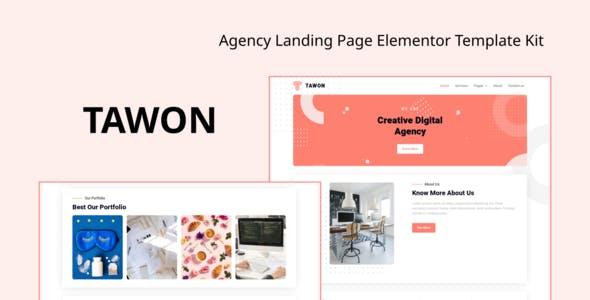 Tawon - Agency Landing Page Elementor Template Kit