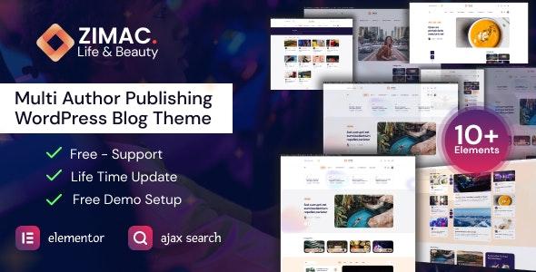 Zimac - Multi Author Publishing WordPress Theme - News / Editorial Blog / Magazine