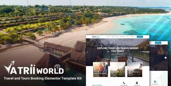 Yatriiworld – Travel & Tours Booking Elementor Template Kit