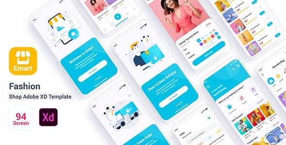 Emart – Fashion Shop Adobe XD Template - Marketing Corporate