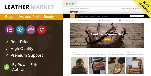 Leather Market - WooCommerce Responsive Theme - Fashion Retail