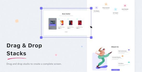 Zuka - Multipurpose  Web UI Kit for Sketch