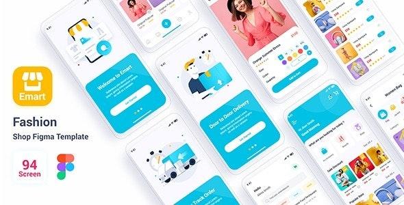 Emart – Fashion Shop Figma Template - Figma UI Templates