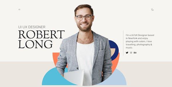 OBER - Resume CV Landing Page XD Template