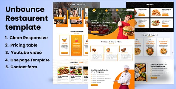 Restaurent Food Landing page