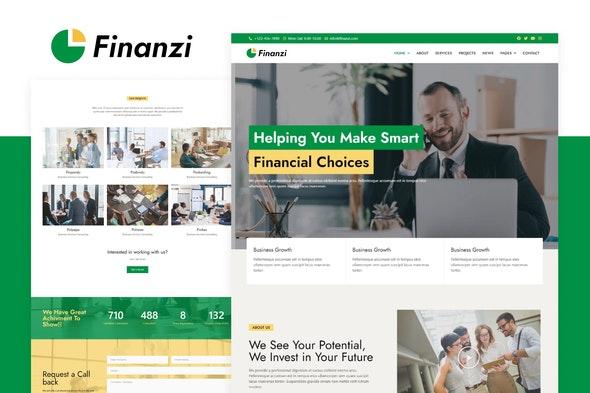 Finanzi - Finance & Business Elementor Template Kit - Business & Services Elementor