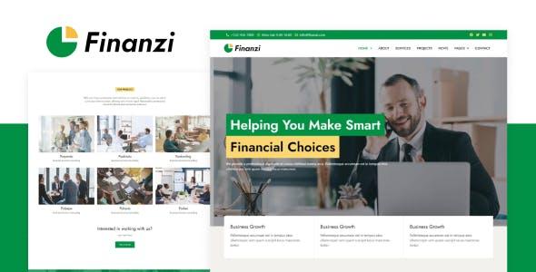 Finanzi - Finance & Business Elementor Template Kit