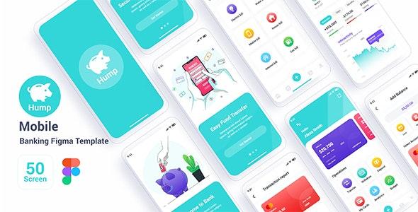 Hump – Mobile Banking Figma Template - Technology Figma