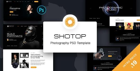 SHOTOP - Photography PSD Template - Photography Creative