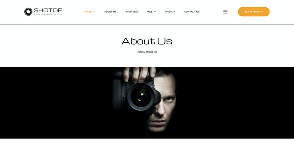 SHOTOP - Photography PSD Template
