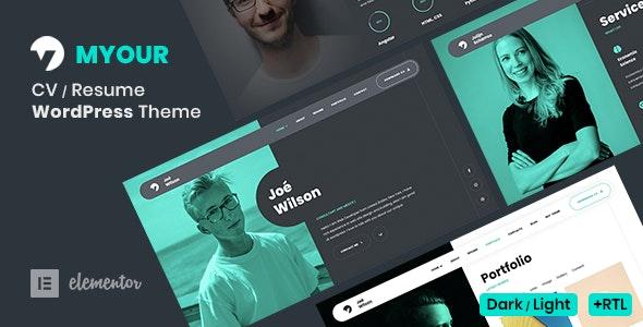 Myour - CV Resume Theme - Portfolio Creative
