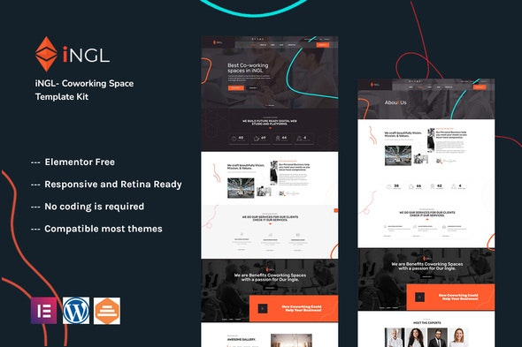 Ingl - Coworking Space Elementor Template Kit - Business & Services Elementor