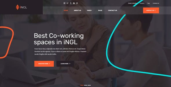 Ingl - Coworking Space Elementor Template Kit