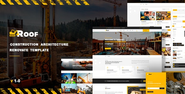 TheRoof - Construction Architecture Renovate Template - Business Corporate