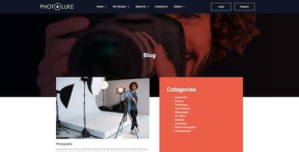 Photoluke - Photography Elementor Template Kit