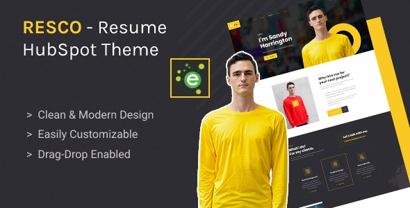 Resco - Resume HubSpot Theme - Creative HubSpot CMS Hub