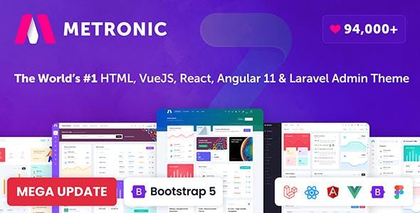 Metronic - Bootstrap 4/5 HTML, VueJS, React, Angular 11 & Laravel Admin Dashboard Theme