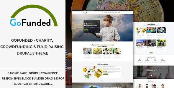 Gofunded - Charity, Crowdfunding & Fund Raising Drupal 9 Theme - Nonprofit Drupal