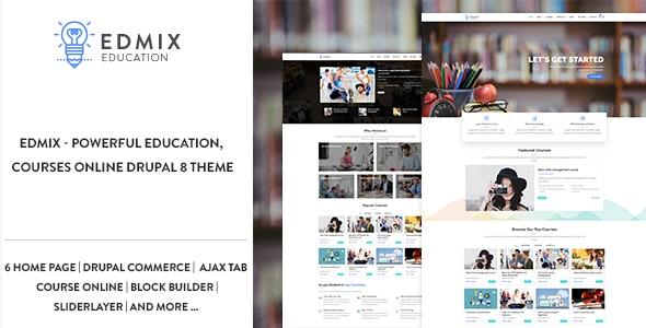 Edmix - Powerful Education, Courses Online Drupal 9 Theme - Miscellaneous Drupal