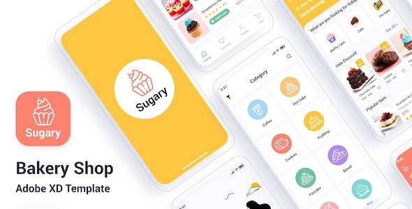 Sugary – Bakery Shop Adobe XD Template