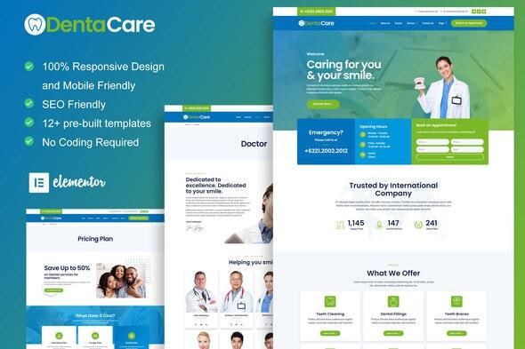 DentaCare - Dentist & Medical Elementor Template Kit - Health & Medical Elementor