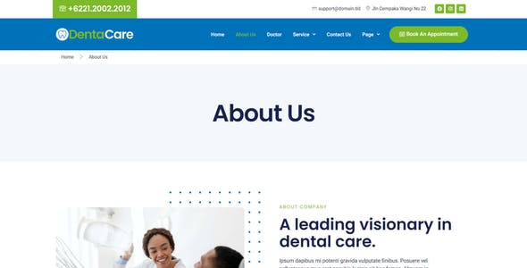 DentaCare - Dentist & Medical Elementor Template Kit