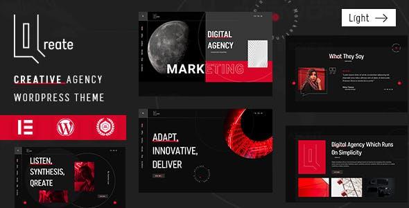 Qreate | Creative Agency WordPress Theme