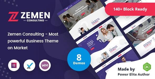 Zemen - Multi-Purpose Consulting Business WordPress Theme + RTL - Business Corporate