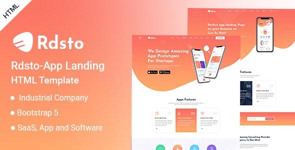 Rdsto - App Landing HTML Template - Software Technology