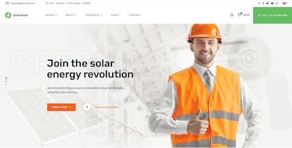 GreenSolar - Alternative & Renewable Energy PSD template