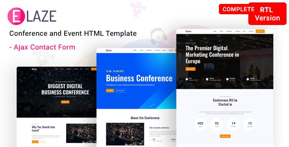 Elaze - Conference   Event HTML Template