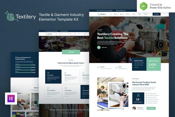 Textilery – Textile & Garment Industry Elementor Template Kit - Business & Services Elementor