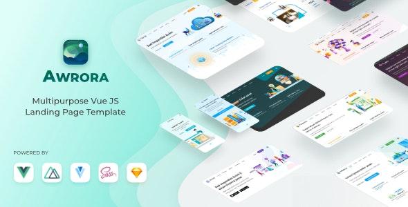 Awrora - Multipurpose Vue JS Landing Page Template - Site Templates