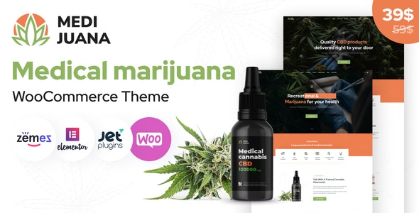 Medijuana - Medical Cannabis WordPress Theme - WooCommerce eCommerce