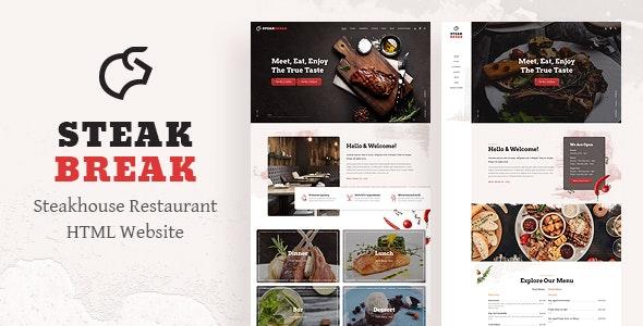 SteakBreak - Restaurant HTML Template - Restaurants & Cafes Entertainment